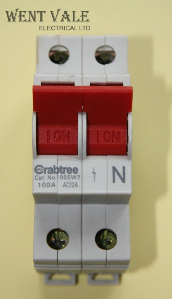 Crabtree Loadstar 100SW2 - 100a  Switch Disconnector Used